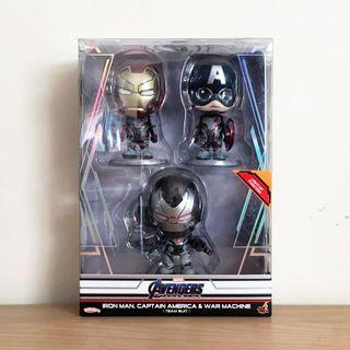 Hot Toys Cosbaby Avengers Endgame - Iron Man, Captain America & War Machine (Team Suit)