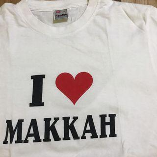 i love makkah white t-shirt