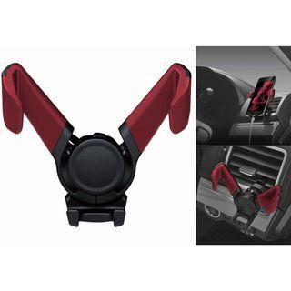 權世界@汽車用品 日本CARMATE 冷氣出風口夾式 重力自動夾緊式手機架 車架 紅色 SA25