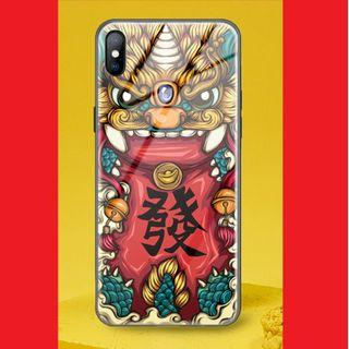 💥iPhone XS Tempered Glass Casing - 年兽抱财💥