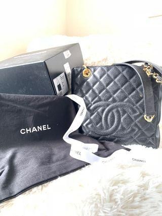 Authentic Chanel PST in Caviar