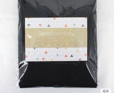 3 sets elegant black bedsheet set