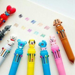 BTS❤PREORDER❤BT21 10-coloured Ballpen❤