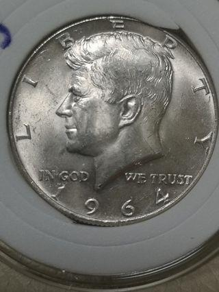 甘迺迪 半圓 銀幣