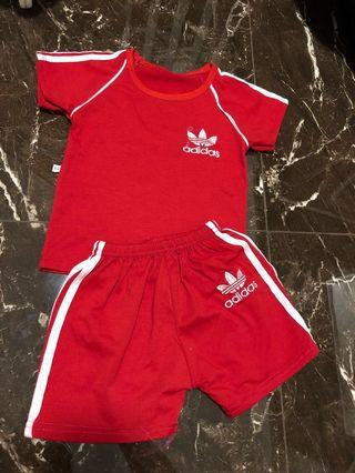 🚚 Adidas Red Sports Set