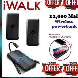 🚚 I walk wirless Powerbank 12,000 mah