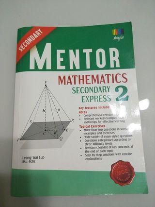 Sec 2 Mentor math book