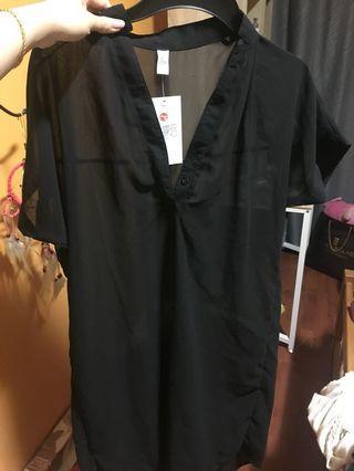 🚚 Translucent Black Dress
