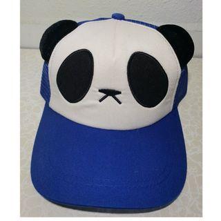 Blue panda snapback Cap