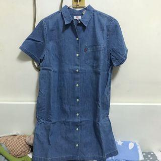 Levi's長版短袖襯衫