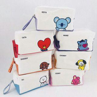BTS❤PREORDER❤ BT21 Comestic Bag/Pencil Case❤