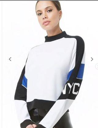Forever 21 NYC Graphic Colorblock Sweatshirt