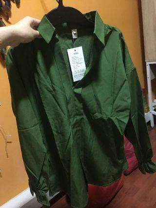 🚚 Forest Green blouse
