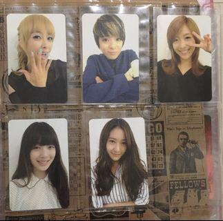 f(x) Electric Shock Official Photocard Set