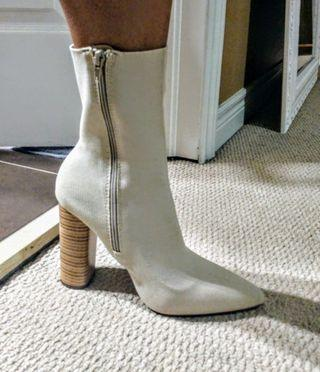 Brand new Just Fab nude/white boots