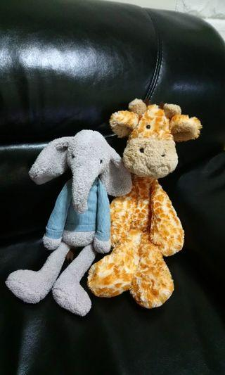 Jellycat Giraffe Elephant soft toy