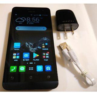 <二手良品螢幕無刮傷>黑ASUS ZenFone 5 T00J 1G/8G 8百萬相機 安卓4.4 功能正常只要1100