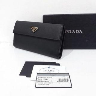 Preloved PRADA WALLET SAFFIANO BLACK