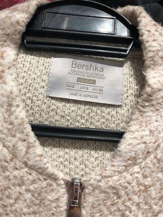 Bershka Knitted Sweater with Zipper