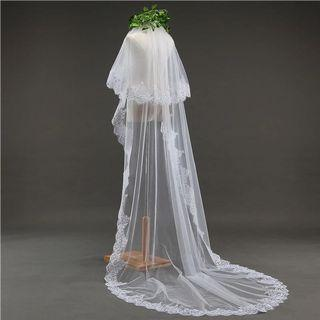 🚚 Bridal veil with sequins
