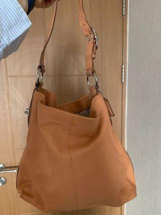 Coach peach shoulder bag