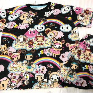 $11.90* Mailed Brand New Tokidoki Black Rainbow Sleepwear Set Dri-fit