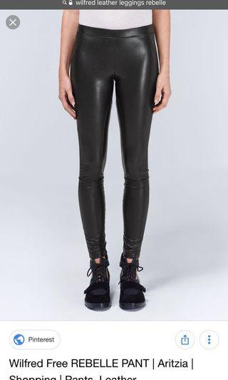 Aritzia Wilfred free leather leggings