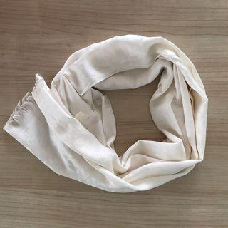 White Thai leopard-print silk shawl/scarf