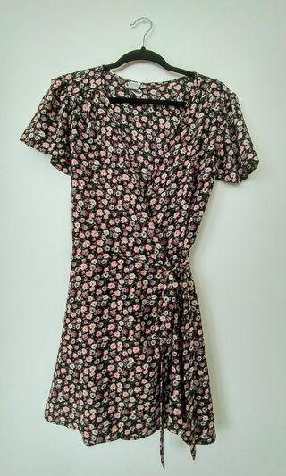 Floral wrap dress (size medium)