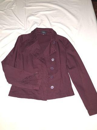 Bossini Jacket / Violet Jacket / Trench Jacket / Coat Jacket / Purple Jacket