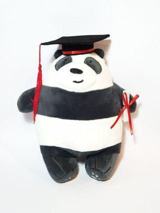 We Bare Bear - Panda Bear Graduation Convocation Gift Plush