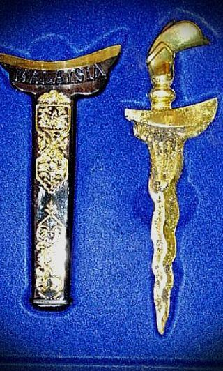 Keris replica with real meteor dust