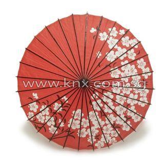 In Stock – MIS 0095 – Red Plum Blossom Oil Paper Japanese Umbrella