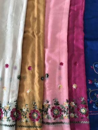 🚚 Peranakan cotton shawl/scarf in various colours