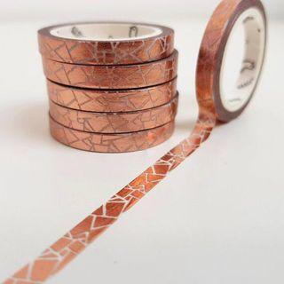[INSTOCKS] crackles cooper foil thin washi tape