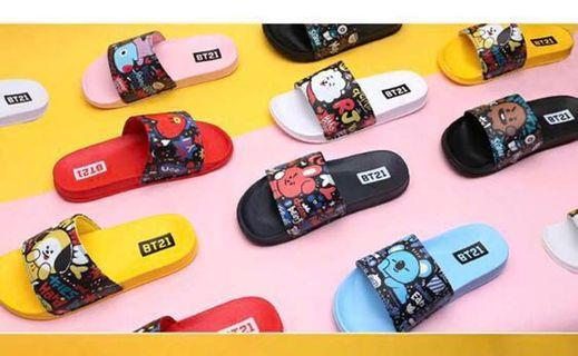 [PO] BT21 PATTERN SLIPPERS SANDALS EVA