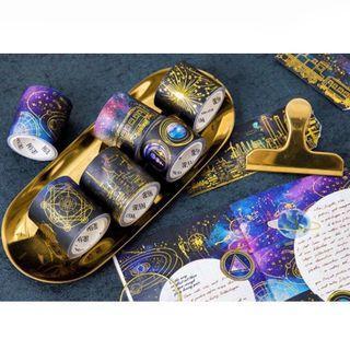[PO] purple galaxy gold foil washi tape