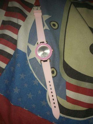 #BAPAU jam tangan dior pink