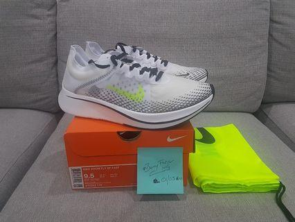 Brand new Nike Zoom Fly SP Fast US9.5/UK8.5 White/Volt-Black