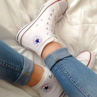 Brand New High Top white Converse
