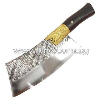 In Stock – MPT 0031 – Arc Dragon Head Hand Forged T10 Tool Steel Cleaver