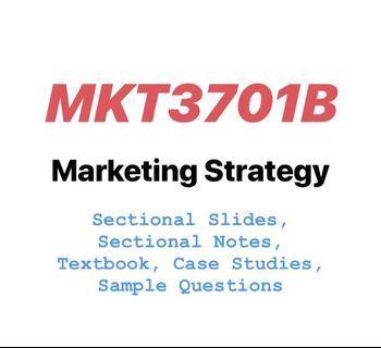 MKT3701B Marketing Management