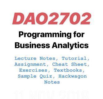 DAO2702 Programming for Business Analytics Python