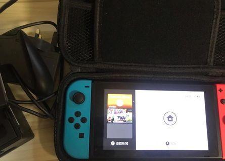 Nintendo DS switch 紅藍主機平賣1800