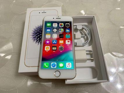 🚚 IPhone 6 金色 32g  4.7吋 2017版(IOS:12.1.2)原盒配件無耳機、 外觀九成五新、漂亮如新無傷、無大修無重摔無泡水,所有功能正常 、效能順暢。已貼滿版保護貼。 電池健康度🔋100%