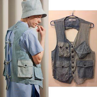 🚚 wisdom 2014 Muti-Pocket Tied-up Vest 工作背心 釣魚背心 S號