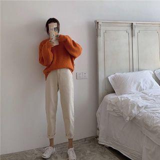 Korean High Waist Straight Wide Pants