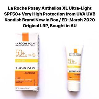 [FREE DELIVERY] La Roche Posay Anthelios XL Ultra Light SPF 50+ 3ml