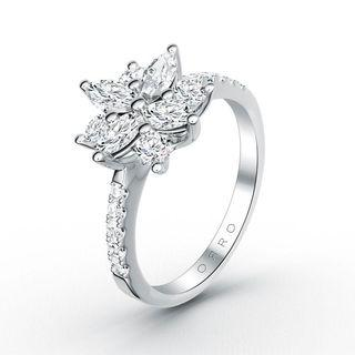 🚚 ORRO Marquise Cocktail Flower Ring