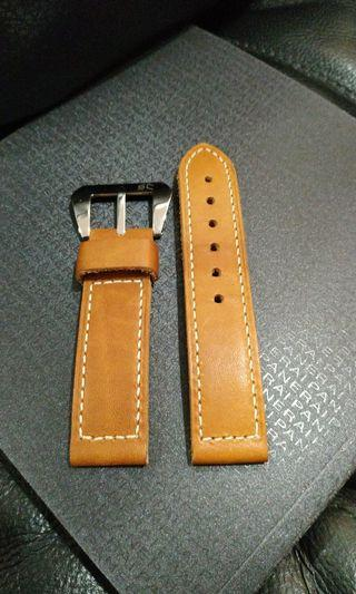 22mm Strap Culture Caramel Leather watch strap